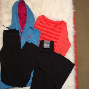 Four (4) Adidas Bundle 2 shirts 2 pants ExtraSmall